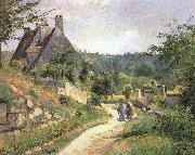 Camille Pissarro Chat in a small way those who china oil painting reproduction