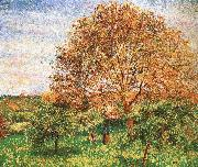 Camille Pissarro Red sky under the apple tree china oil painting reproduction
