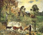 Camille Pissarro Montreal luck construction pond china oil painting reproduction