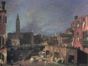 Canaletto the stonemason s yard china oil painting reproduction