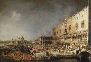 Canaletto reception of the french ambassador in venice china oil painting reproduction