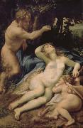 Correggio Venus and Eros was found Lin God china oil painting reproduction