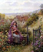 Daniel Ridgeway Knight In the Garden china oil painting reproduction
