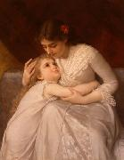 E.Munier Pardon, Mama china oil painting reproduction