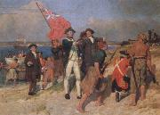 E.Phillips Fox landing of captain cook at botany bay,1770 china oil painting reproduction