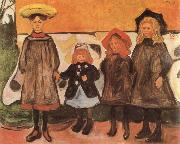 Edvard Munch Girls china oil painting reproduction
