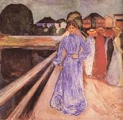 Edvard Munch Girl on the bridge china oil painting reproduction