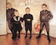 Edvard Munch Doctor Lide-s Children china oil painting reproduction