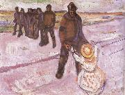 Edvard Munch Worker and children china oil painting reproduction