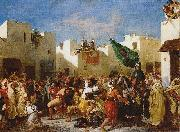 Eugene Delacroix Fanatics of Tangier china oil painting reproduction