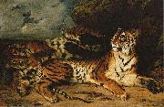 Eugene Delacroix A Young Tiger Playing with its Mother china oil painting reproduction