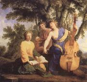 Eustache Le Sueur Melpomene Erato and Polyhmia china oil painting reproduction