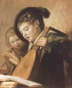 Frans Hals Two Singing Boys china oil painting reproduction