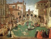 Gentile Bellini the miracle of the true cross near san lorenzo bridge china oil painting reproduction