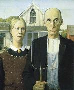 Grant Wood American Gothic china oil painting reproduction