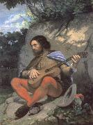 Gustave Courbet Young man in a Landscape or The Guitarreor china oil painting reproduction