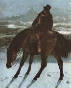 Gustave Courbet Hunter on the horse back china oil painting reproduction