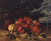 Gustave Courbet Red apples at the Foot of a Tree china oil painting reproduction