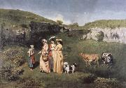 Gustave Courbet young women from the Village china oil painting reproduction