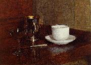 Henri Fantin-Latour Glass, Silver Goblet and Cup of Champagne china oil painting reproduction