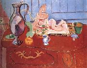 Henri Matisse Trophy and a small statue of pink china oil painting reproduction