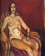 Henri Matisse Naked in front of a red background like china oil painting reproduction