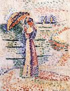 Henri Matisse Woman holding umbrella china oil painting reproduction