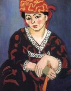 Henri Matisse Woman wearing a red turban china oil painting reproduction