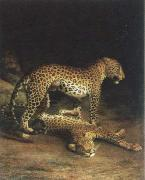 Jacques-Laurent Agasse two leopards playing china oil painting reproduction