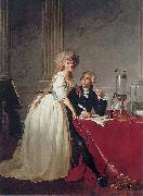 Jacques-Louis David Portrait of Antoine Laurent Lavoisier and his wife ( china oil painting reproduction