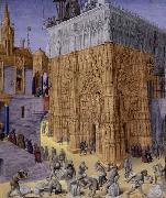 Jean Fouquet Construction of the Temple of Jerusalem china oil painting reproduction