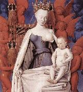 Jean Fouquet right wing of Melun diptychVirgin and Child Surrounded by Angels Showing Charles VII mistress Agnes Sorel china oil painting reproduction