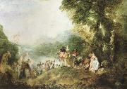 Jean-Antoine Watteau the pilgrimage to cythera china oil painting reproduction
