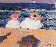 Joaquin Sorolla Y Bastida maria y elena en la playa china oil painting reproduction