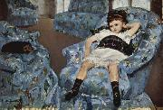 Mary Cassatt Little Girl in a Blue Armchair china oil painting reproduction