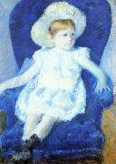 Mary Cassatt Elsie in a Blue Chair china oil painting reproduction