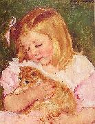 Mary Cassatt Sara Holding a Cat china oil painting reproduction