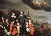 Nicolaes maes captain job jansz cuyter and his family china oil painting reproduction