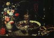 PEETERS, Clara bord med blomvas och torkad frukt china oil painting reproduction