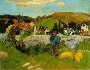 Paul Gauguin The Swineherd, Brittany china oil painting reproduction