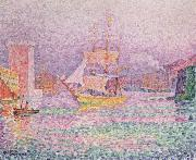 Paul Signac the harbor at marseilles china oil painting reproduction