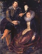 Peter Paul Rubens Rubens with his First wife isabella brant in the Honeysuckle bower china oil painting reproduction