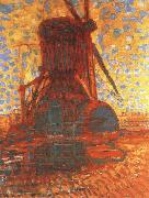 Piet Mondrian molen mill the winkel mill in sunlight,1908 china oil painting reproduction