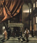 Pieter de Hooch interior of the burgomasters council chamber china oil painting reproduction