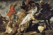 Rubens Santoro Lion hunting china oil painting reproduction