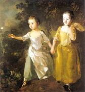 Thomas Gainsborough The Painter Daughters Chasing a Butterfly china oil painting reproduction