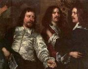 William Dobson The Painter with Sir Charles Cottrell and Sir Balthasar Gerbier by William Dobson china oil painting reproduction