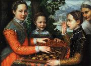 anguissola sofonisba tre schackspelande systrar china oil painting reproduction