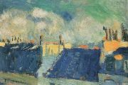 pablo picasso blue roofs china oil painting reproduction