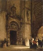 rudolph von alt side portal of como cathedral china oil painting reproduction